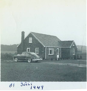 the first building built by Frank Groff in 1949