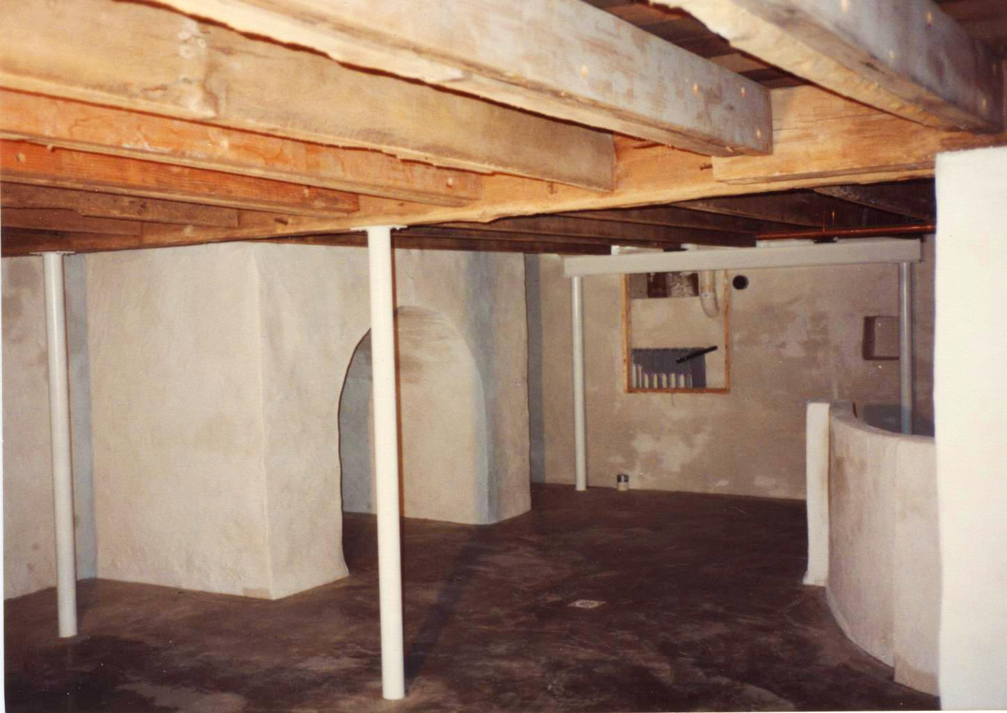 A Concrete Refinished Basement