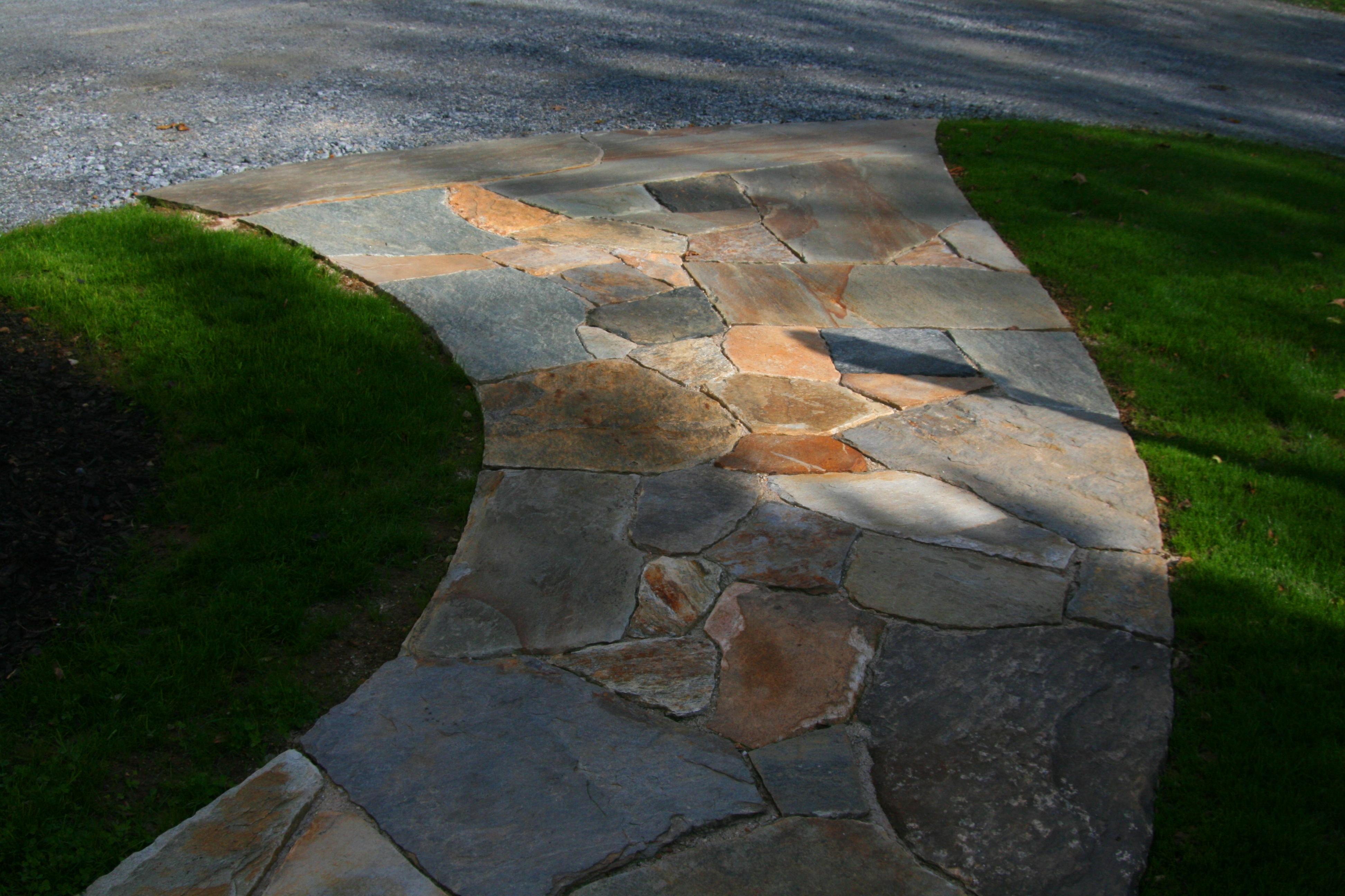 A Curved Stone Sidewalk