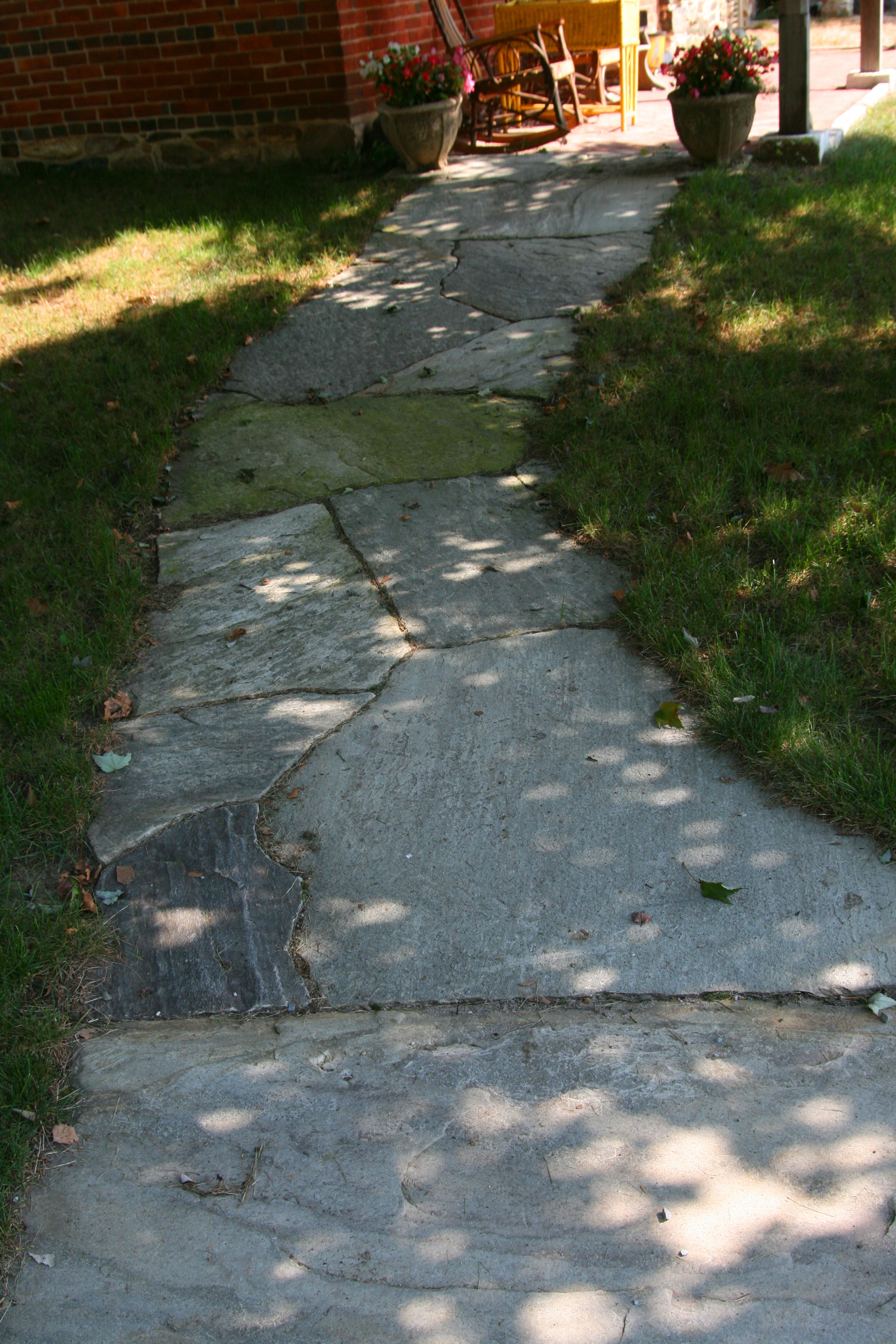 A Level Stone Walkway