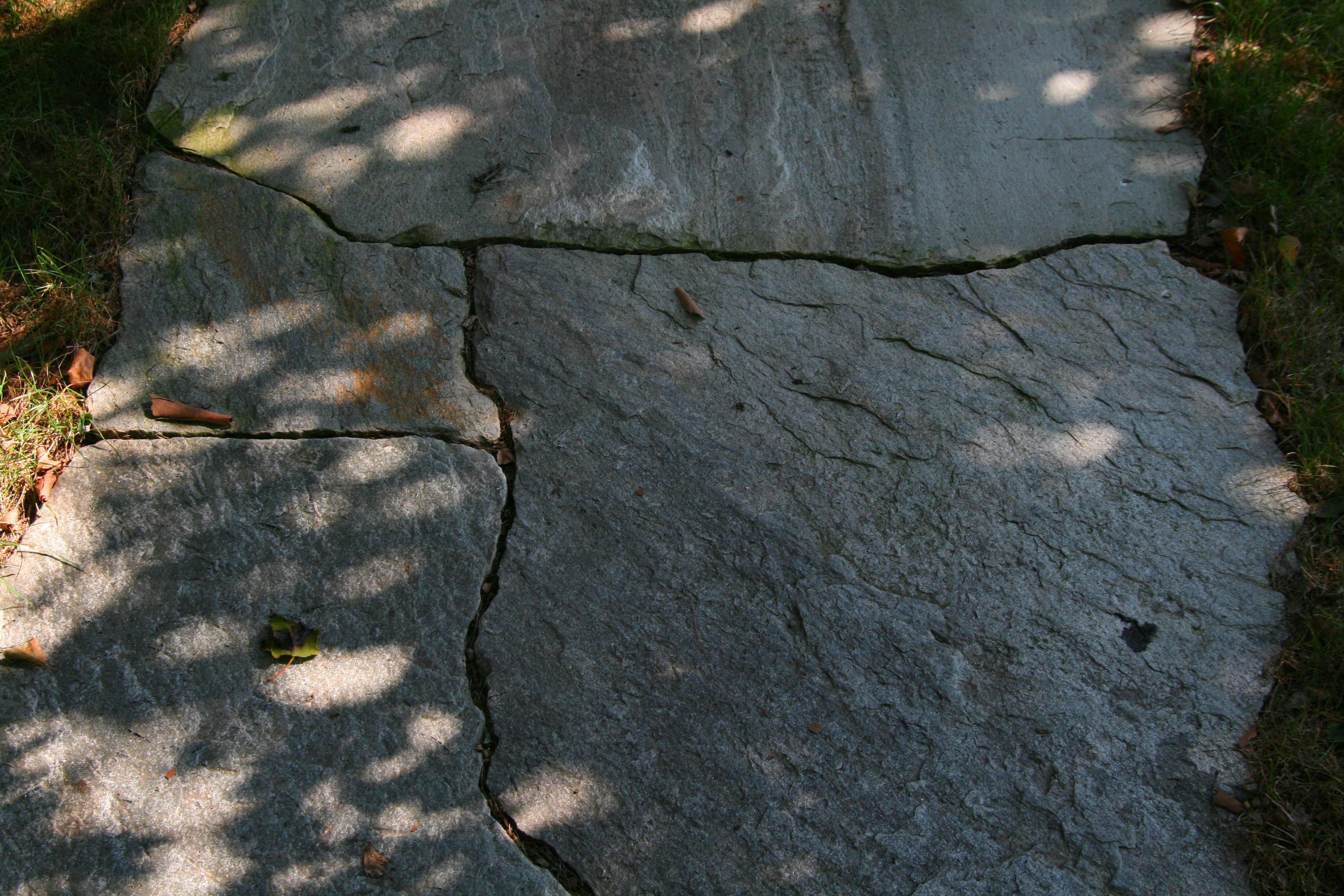 Closeup Of A Stone Walkway Section