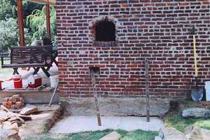 Preparing the outside of a home for a bake oven