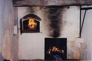 A restored brick oven