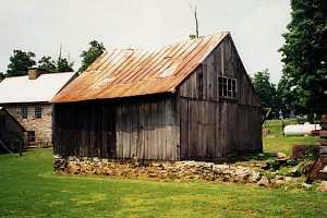 old shed on crumbling foundation in need of significant renovation