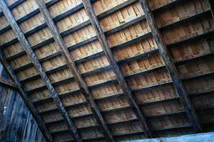 interior image of rebuild shed roofing