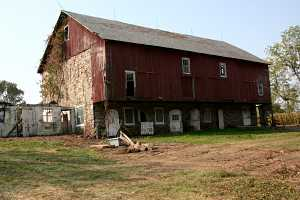 a run-down barn in poor condition