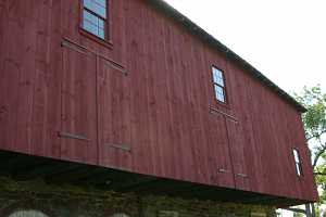 restored barn back