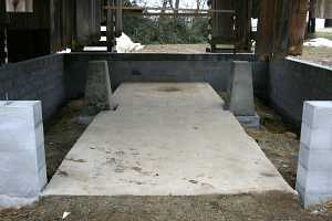 new concrete foundation