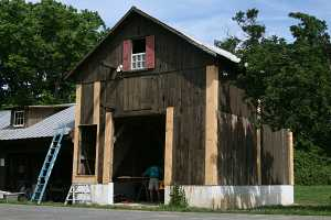 continued renovations to barn exterior
