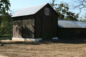 barn going through restoration and repairs