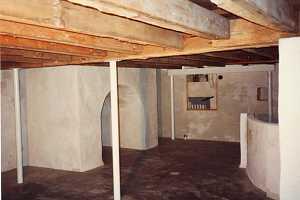 a concrete refinished basement