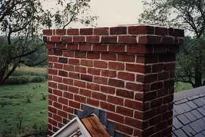 A brick chimney