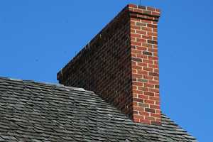 A large brick chimney