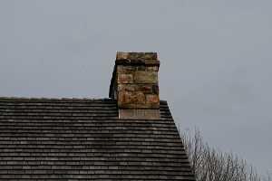 A stone chimney