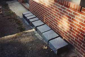 Line-up of custom cut square stones