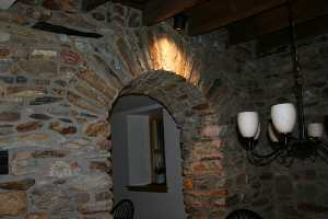 A stone arch doorway