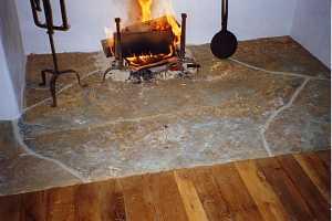 custom stone fireplace hearth renovation