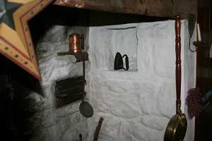 inside a fireplace