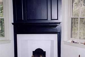 a restored fireplace area - after