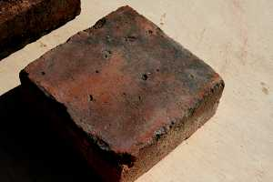 a square red brick