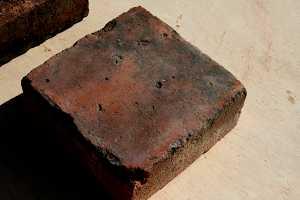 a square red brick