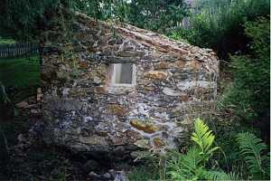 Ruins of an old stone spring house