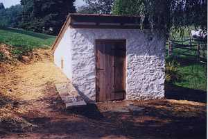A stone spring house