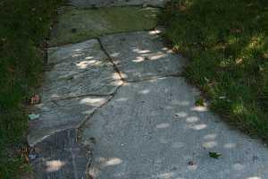 a level stone walkway
