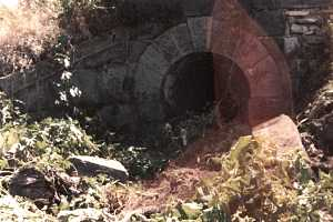 an old stone tunnel restored using historical building materials